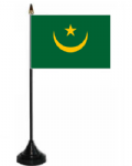 Mauritania 1959-2017 Desk / Table Flag with plastic stand and base.